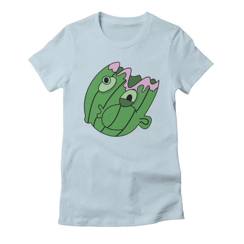 melonhead Women's Fitted T-Shirt by TenAnchors's Artist Shop