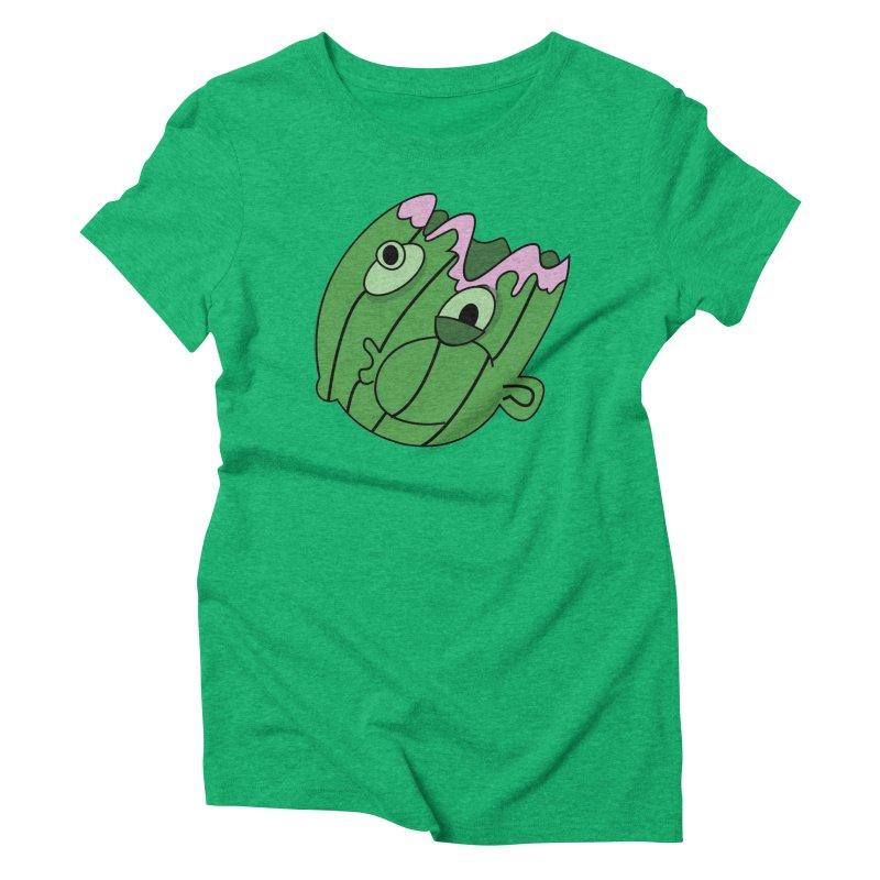 melonhead Women's Triblend T-Shirt by TenAnchors's Artist Shop