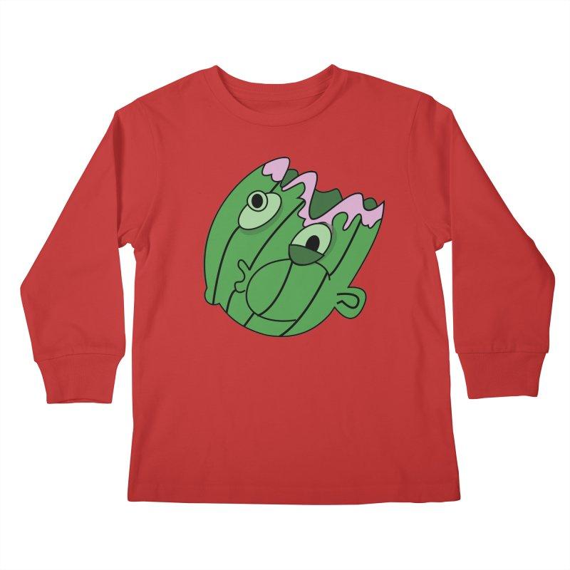 melonhead Kids Longsleeve T-Shirt by TenAnchors's Artist Shop