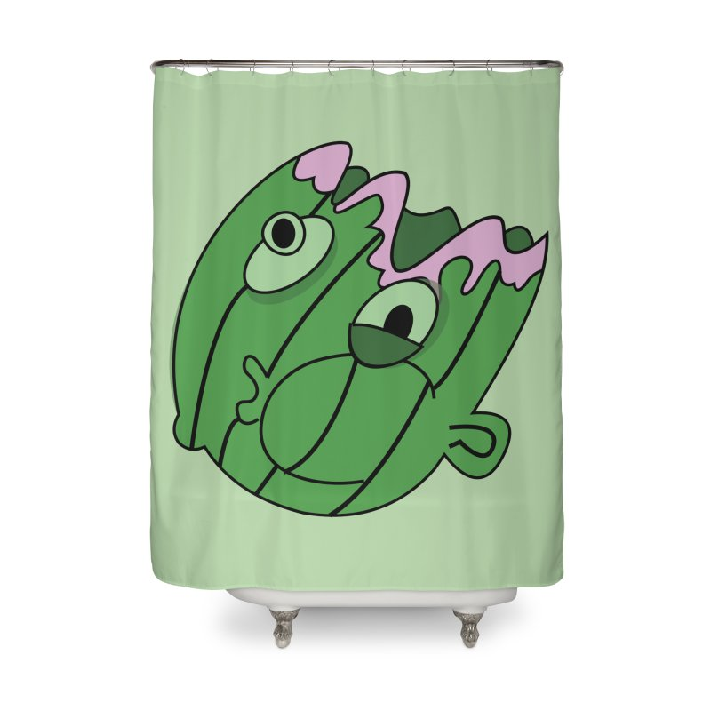 melonhead Home Shower Curtain by TenAnchors's Artist Shop