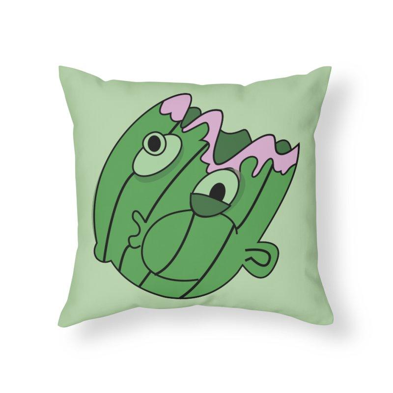 melonhead Home Throw Pillow by TenAnchors's Artist Shop