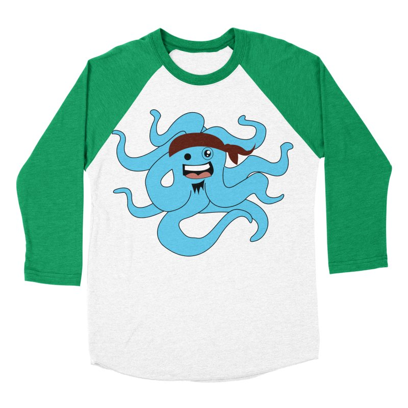 Octo....Pirate Men's Baseball Triblend T-Shirt by TenAnchors's Artist Shop