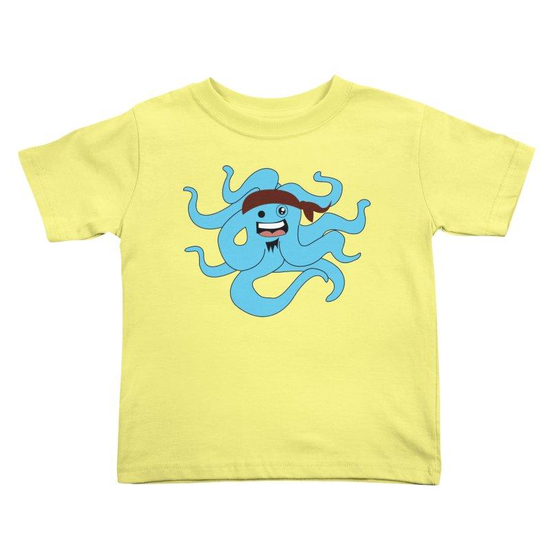 Octo....Pirate Kids Toddler T-Shirt by TenAnchors's Artist Shop