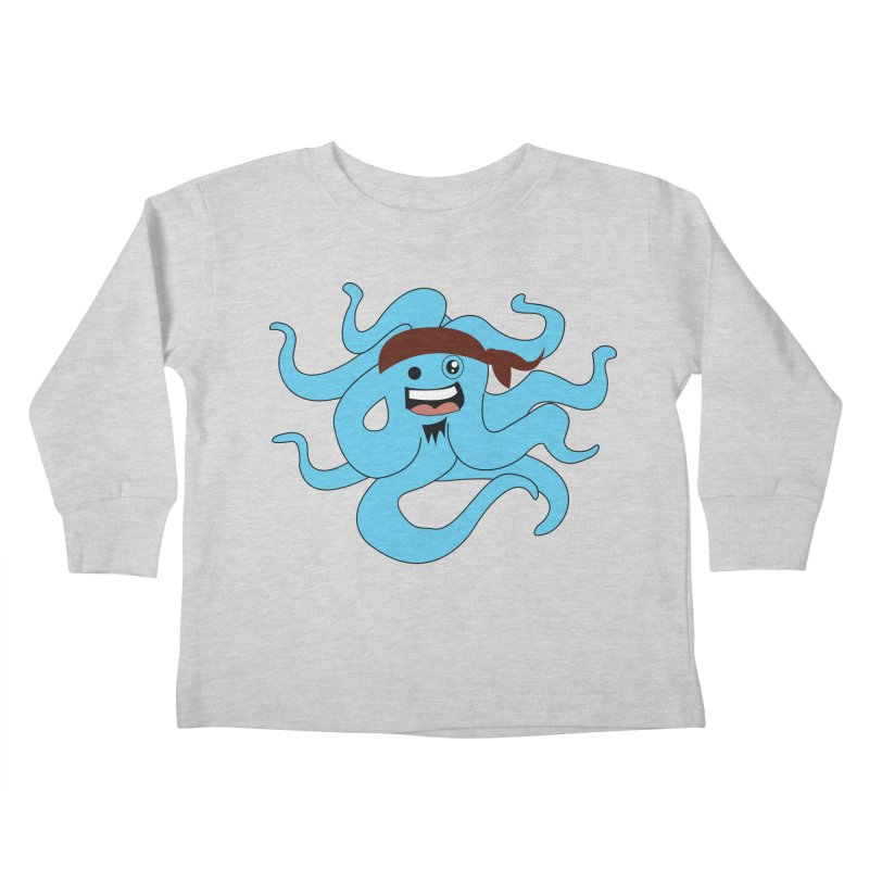 Octo....Pirate Kids Toddler Longsleeve T-Shirt by TenAnchors's Artist Shop