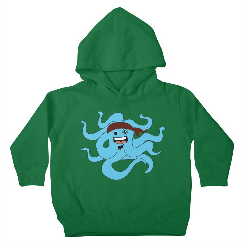 Octo....Pirate Kids Toddler Pullover Hoody by TenAnchors's Artist Shop