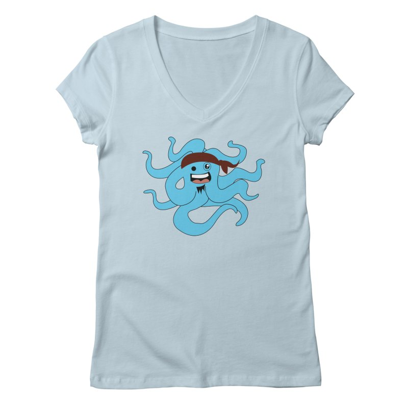 Octo....Pirate Women's V-Neck by TenAnchors's Artist Shop