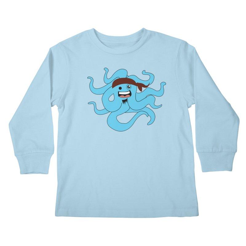 Octo....Pirate Kids Longsleeve T-Shirt by TenAnchors's Artist Shop