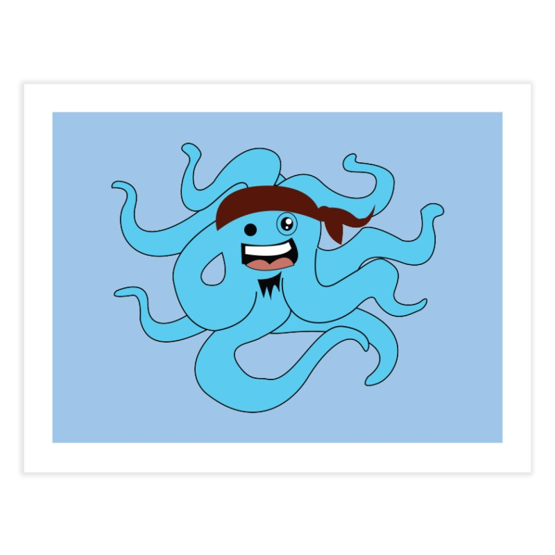 Octo....Pirate Home Fine Art Print by TenAnchors's Artist Shop