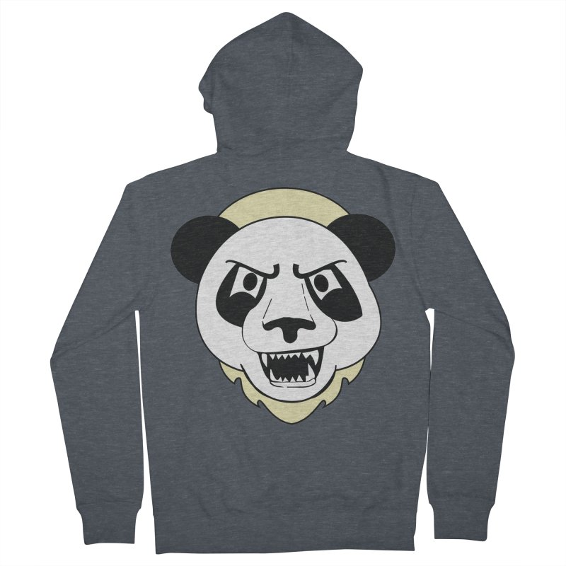Panda Fury Men's Zip-Up Hoody by TenAnchors's Artist Shop