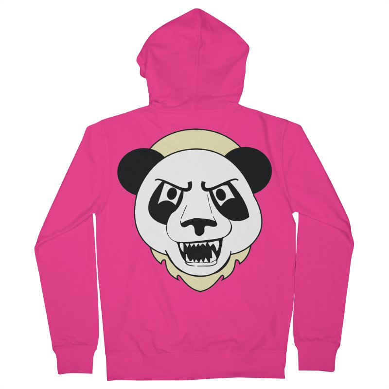 Panda Fury Men's Zip-Up Hoody by TenAnchors's Artist Shop