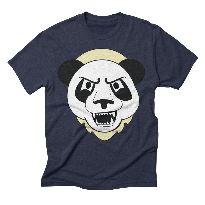 Panda Fury Men's Triblend T-Shirt by TenAnchors's Artist Shop