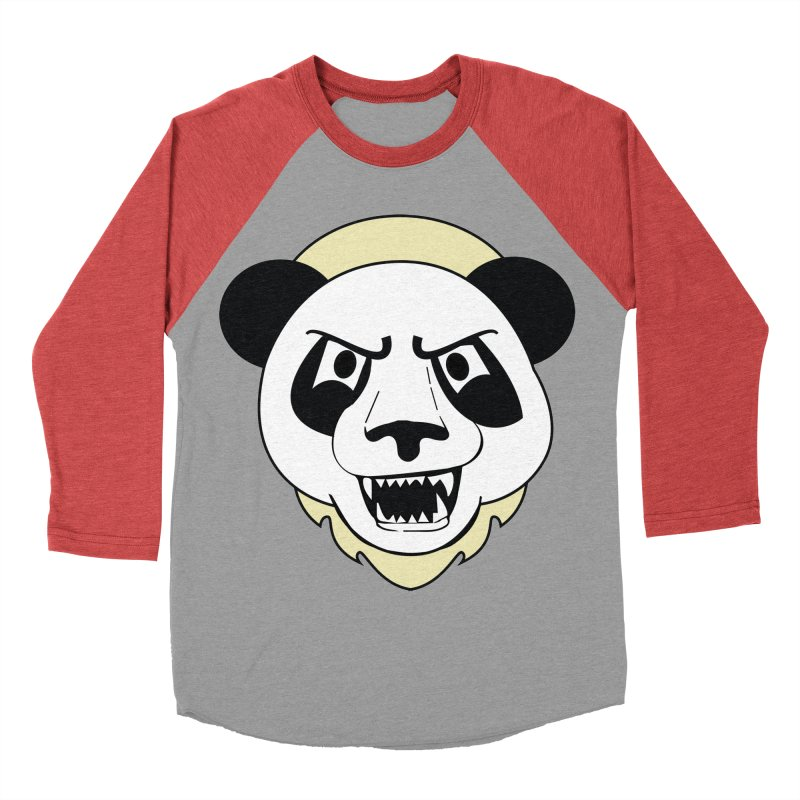 Panda Fury Women's Baseball Triblend T-Shirt by TenAnchors's Artist Shop