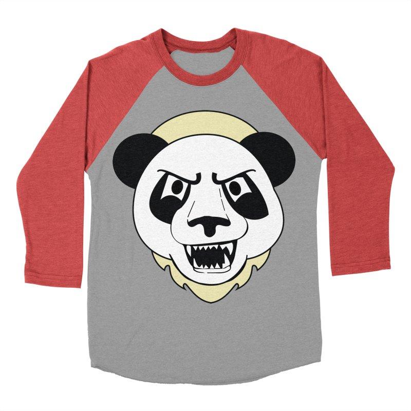 Panda Fury Men's Baseball Triblend T-Shirt by TenAnchors's Artist Shop