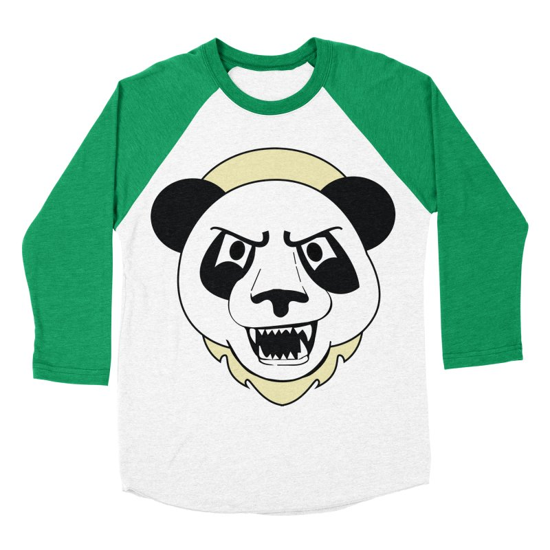 Panda Fury Men's Baseball Triblend T-Shirt by TenAnchors's Artist Shop