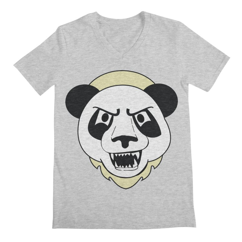 Panda Fury Men's V-Neck by TenAnchors's Artist Shop