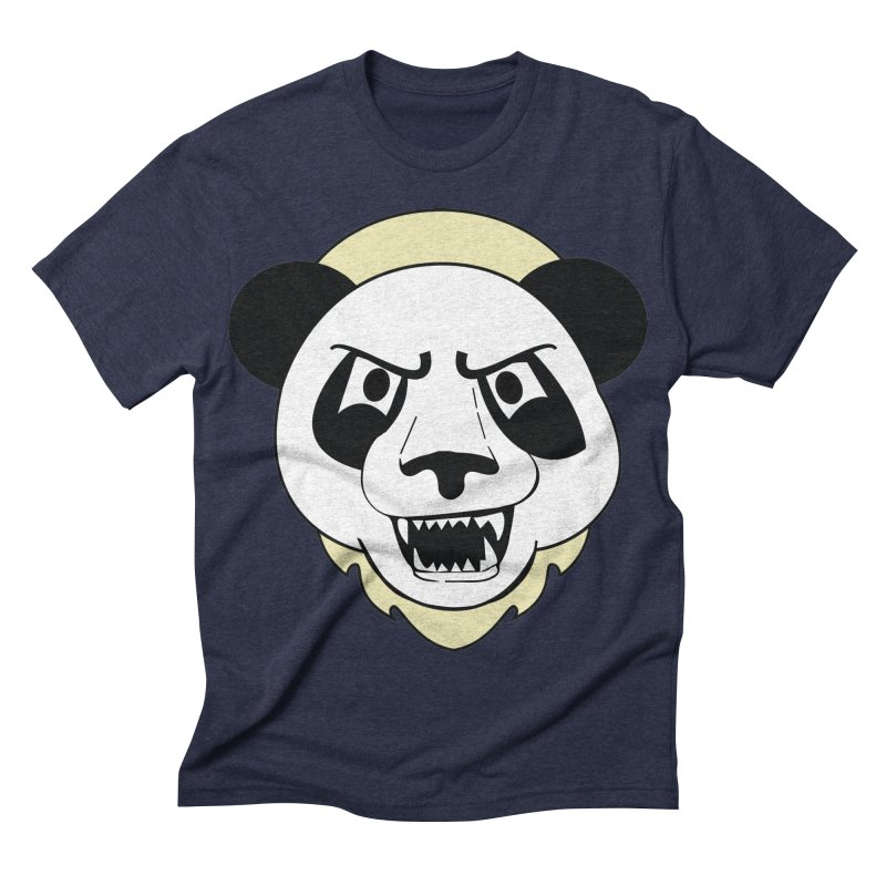 Panda Fury Men's Triblend T-shirt by TenAnchors's Artist Shop