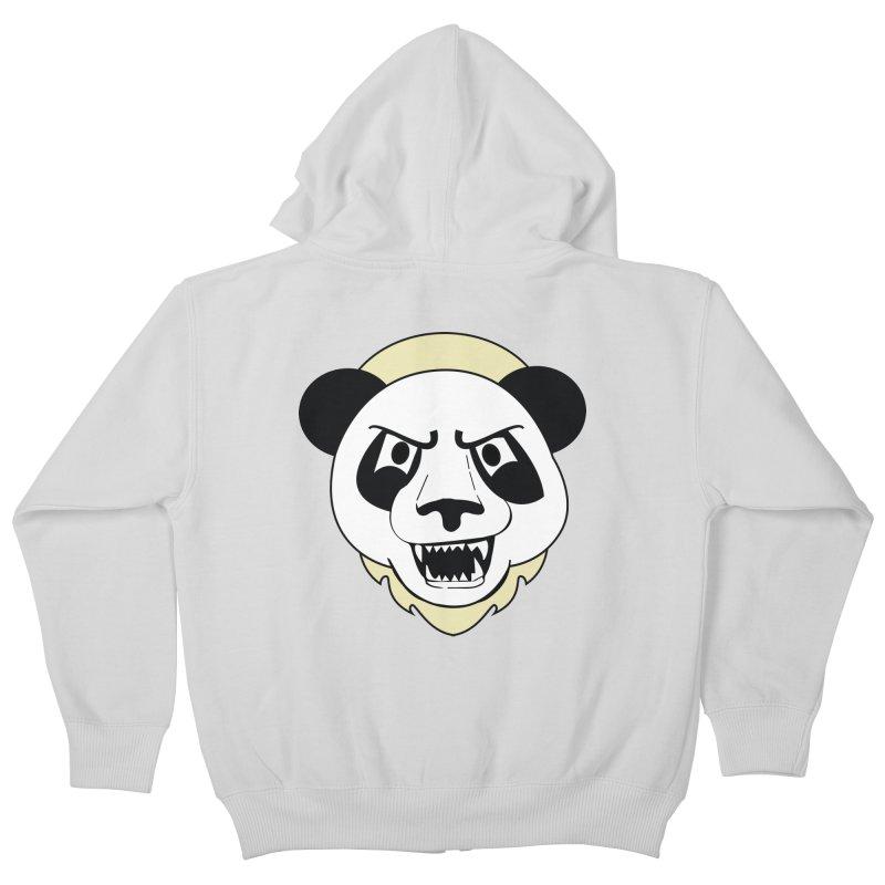 Panda Fury Kids Zip-Up Hoody by TenAnchors's Artist Shop