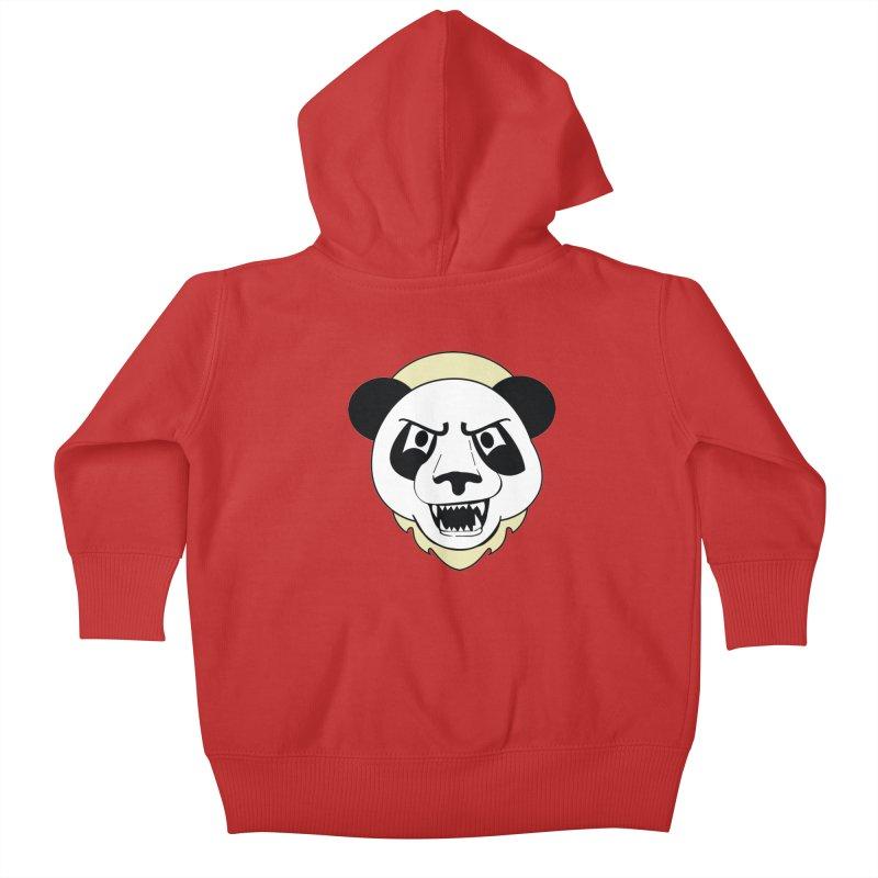 Panda Fury Kids Baby Zip-Up Hoody by TenAnchors's Artist Shop