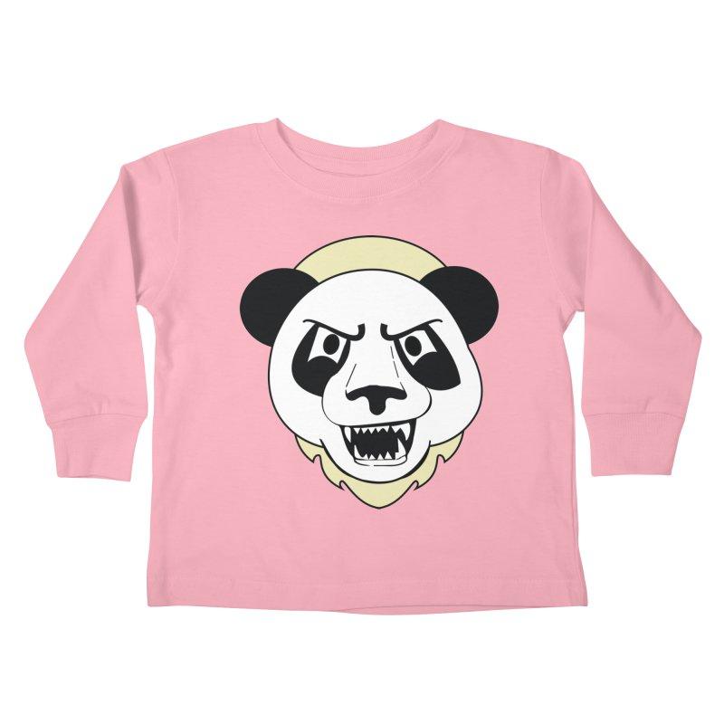 Panda Fury Kids Toddler Longsleeve T-Shirt by TenAnchors's Artist Shop