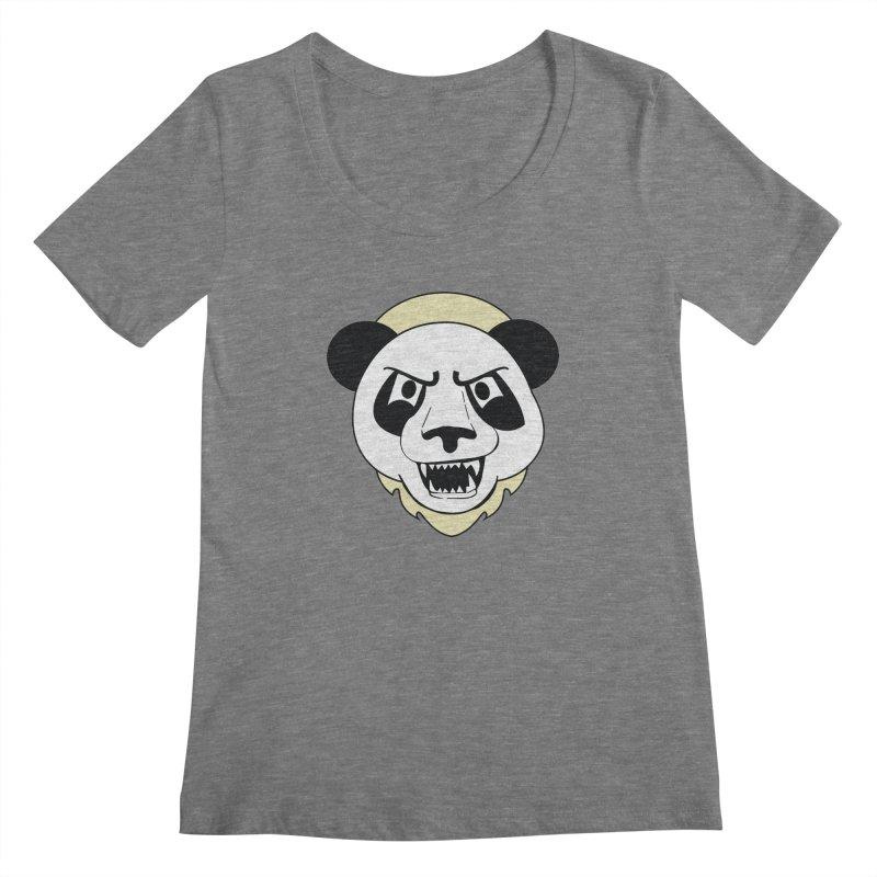Panda Fury Women's Scoopneck by TenAnchors's Artist Shop
