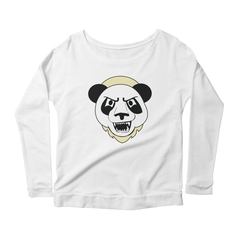 Panda Fury Women's Longsleeve Scoopneck  by TenAnchors's Artist Shop
