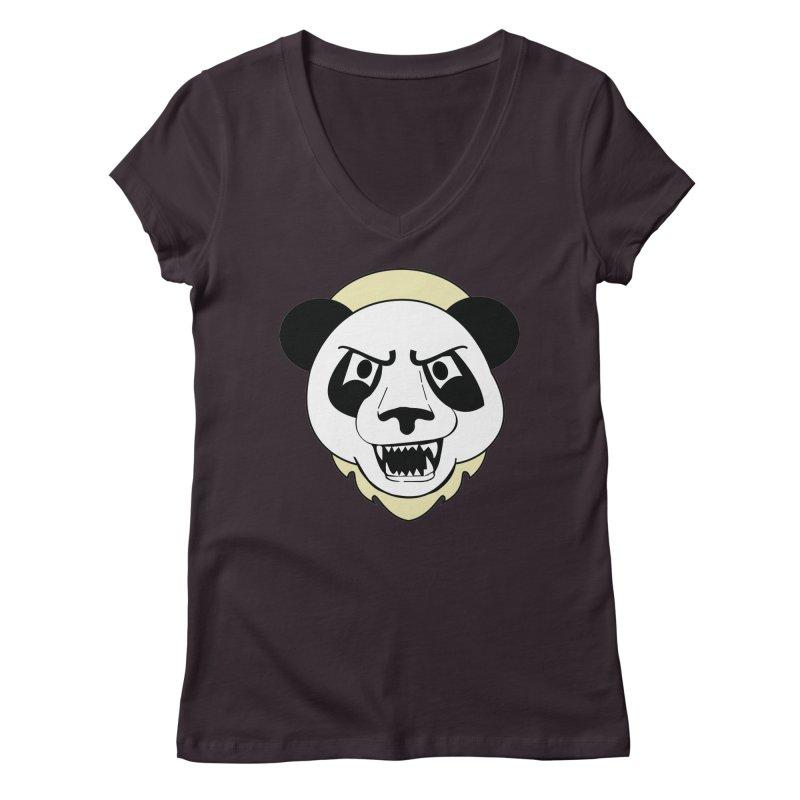 Panda Fury Women's V-Neck by TenAnchors's Artist Shop