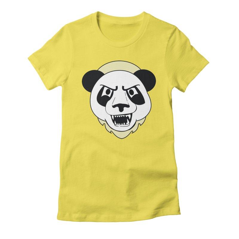 Panda Fury Women's Fitted T-Shirt by TenAnchors's Artist Shop