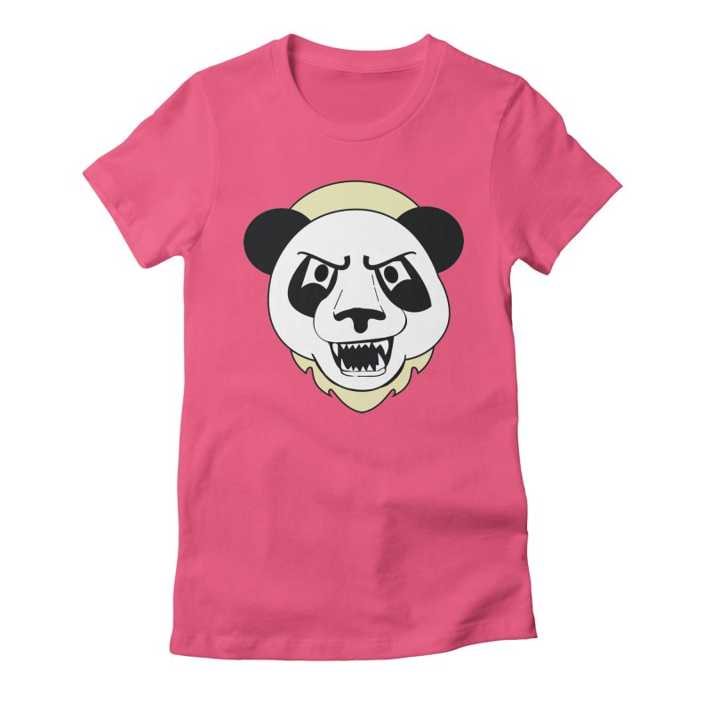 Panda Fury Women's Fitted T-Shirt by TenAnchors's Artist Shop