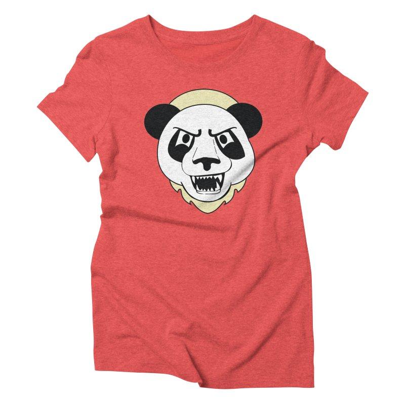 Panda Fury Women's Triblend T-shirt by TenAnchors's Artist Shop