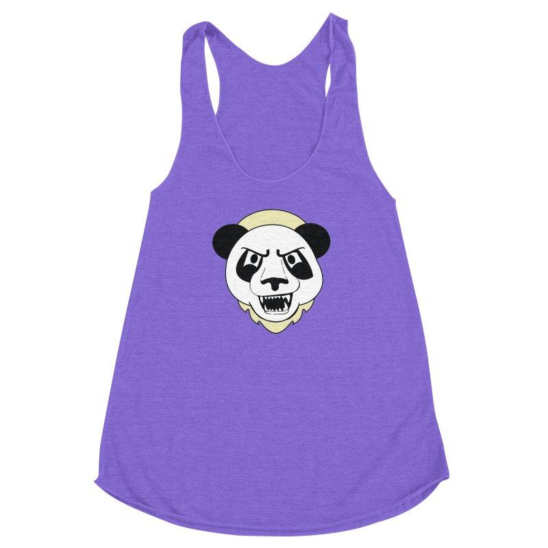 Panda Fury Women's Racerback Triblend Tank by TenAnchors's Artist Shop