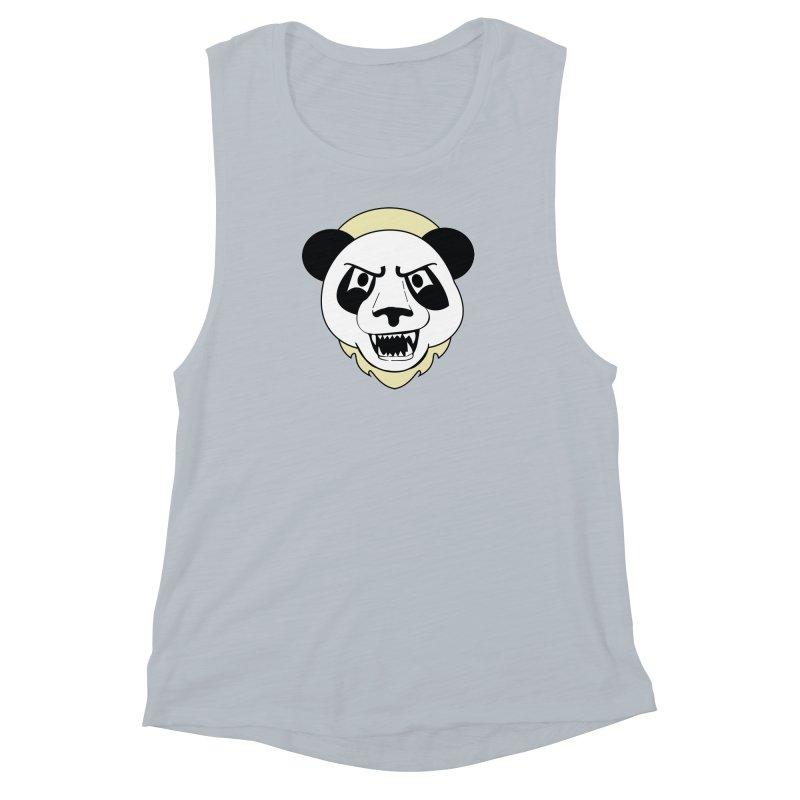 Panda Fury Women's Muscle Tank by TenAnchors's Artist Shop