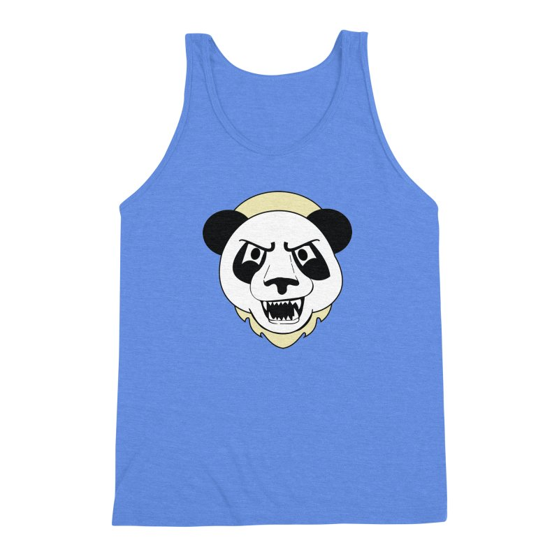 Panda Fury Men's Triblend Tank by TenAnchors's Artist Shop