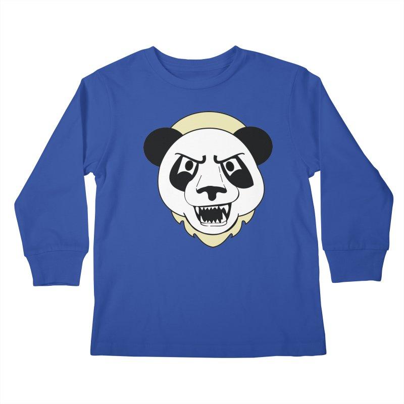 Panda Fury Kids Longsleeve T-Shirt by TenAnchors's Artist Shop