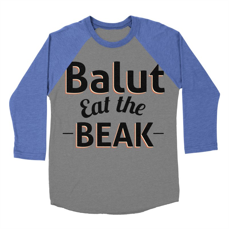Eat the Beak Men's Baseball Triblend T-Shirt by TenAnchors's Artist Shop
