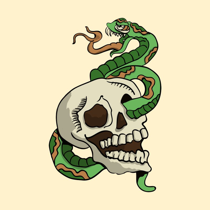 Snake 'n' Skull by TenAnchors's Artist Shop