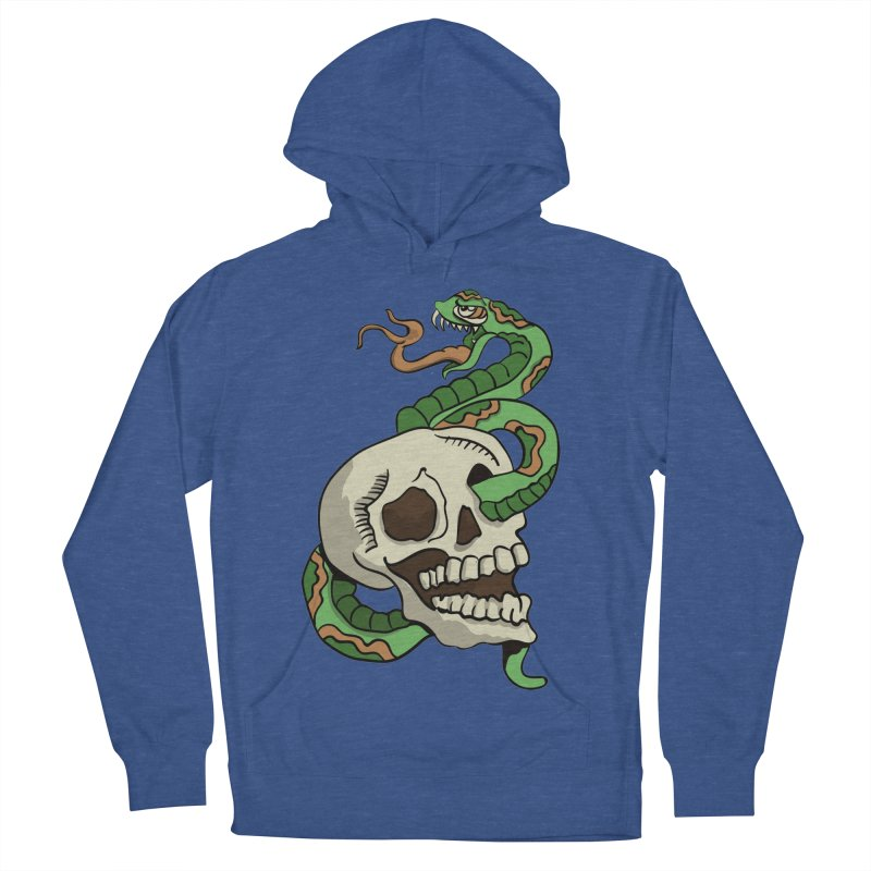 Snake 'n' Skull Men's Pullover Hoody by TenAnchors's Artist Shop