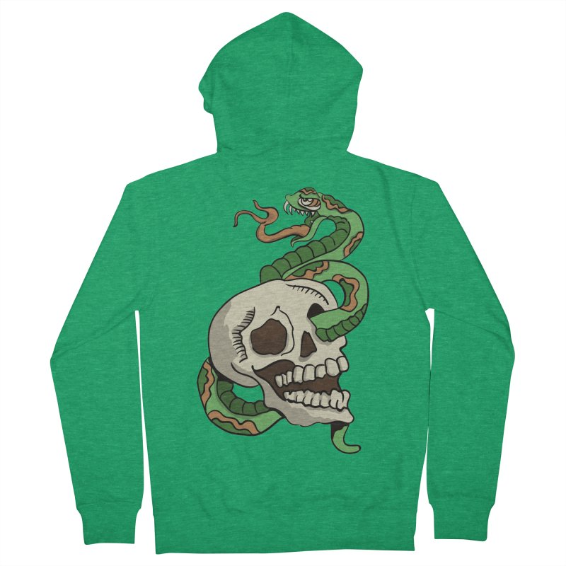 Snake 'n' Skull Women's Zip-Up Hoody by TenAnchors's Artist Shop