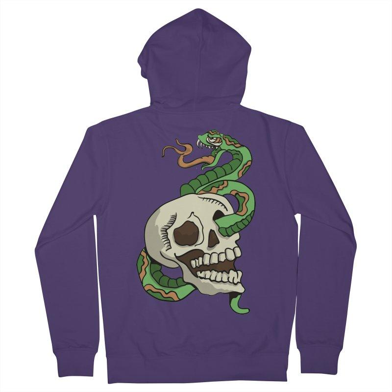 Snake 'n' Skull Women's Zip-Up Hoody by TenAnchors's Artist Shop