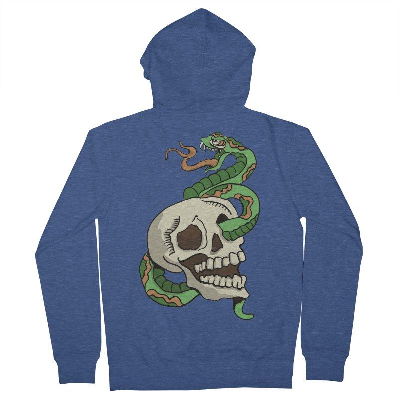Snake 'n' Skull Men's Zip-Up Hoody by TenAnchors's Artist Shop