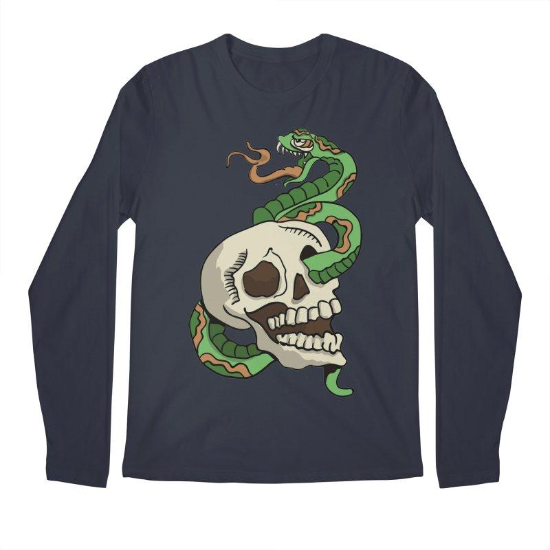 Snake 'n' Skull Men's Longsleeve T-Shirt by TenAnchors's Artist Shop