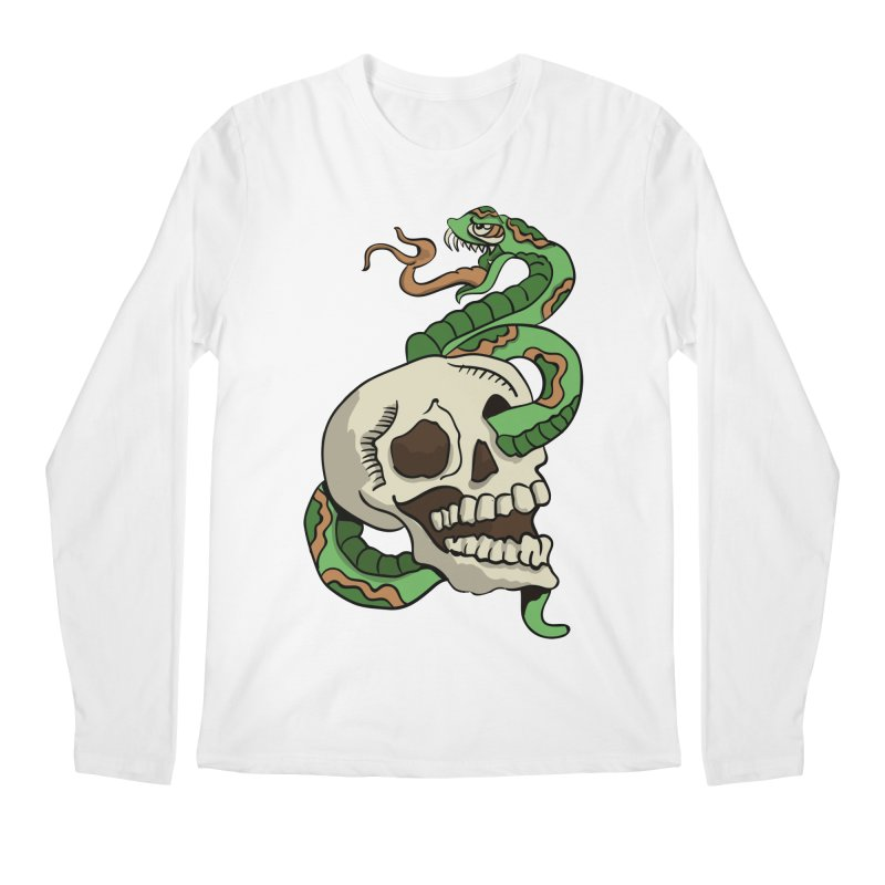 Snake 'n' Skull Men's Longsleeve T-Shirt by TenAnchors's Artist Shop