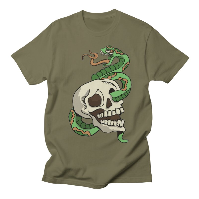 Snake 'n' Skull Men's T-Shirt by TenAnchors's Artist Shop