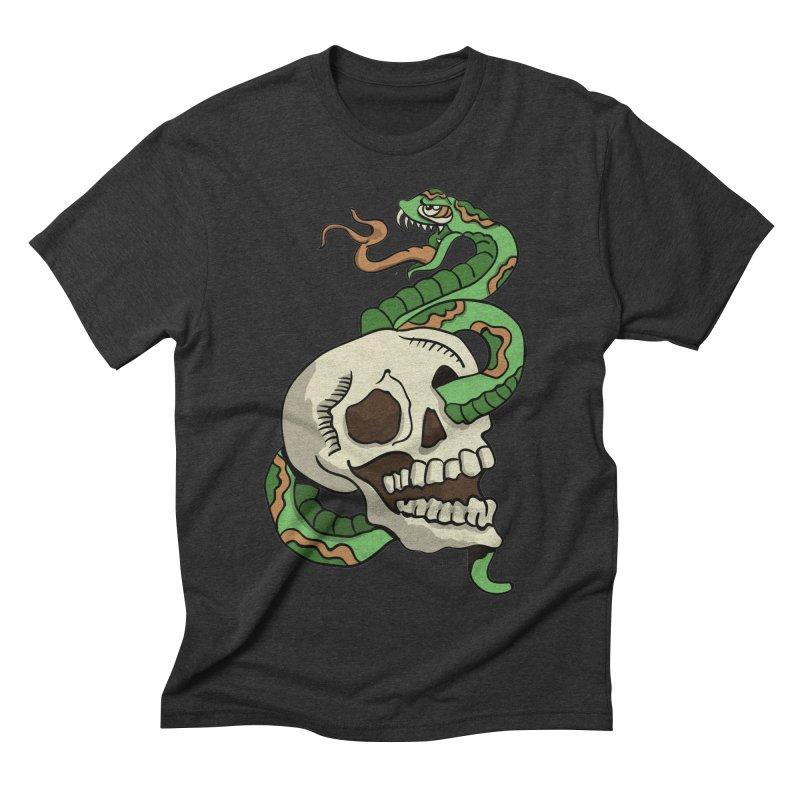 Snake 'n' Skull Men's Triblend T-Shirt by TenAnchors's Artist Shop