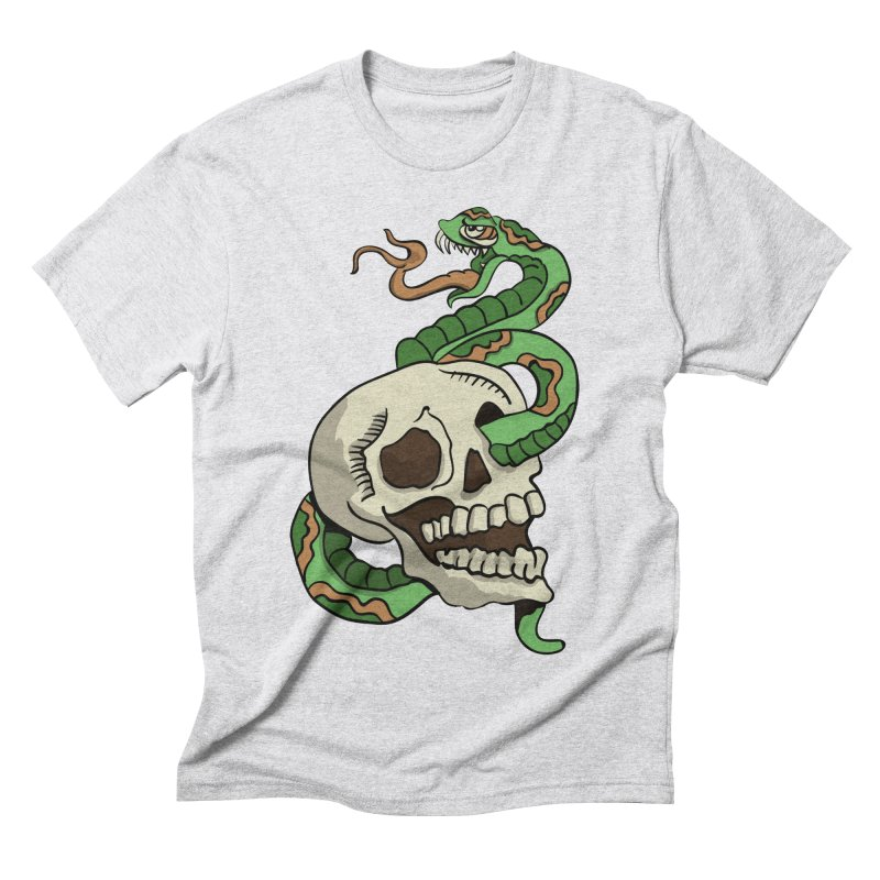 Snake 'n' Skull Men's Triblend T-Shirt by TenAnchors's Artist Shop