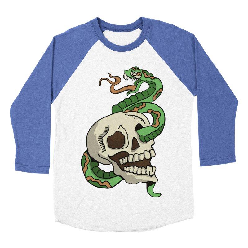 Snake 'n' Skull Women's Baseball Triblend T-Shirt by TenAnchors's Artist Shop