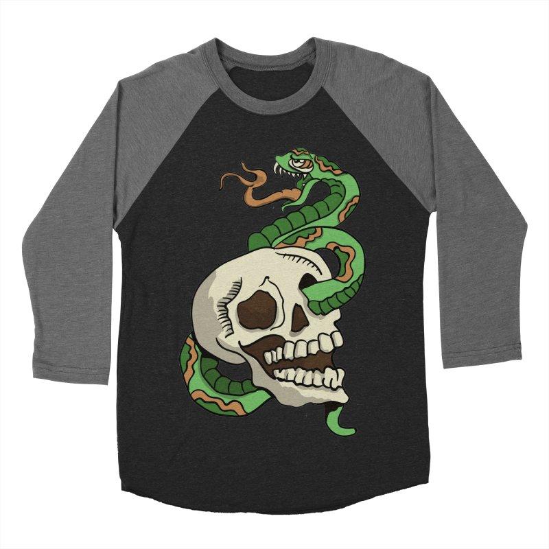 Snake 'n' Skull Men's Baseball Triblend T-Shirt by TenAnchors's Artist Shop