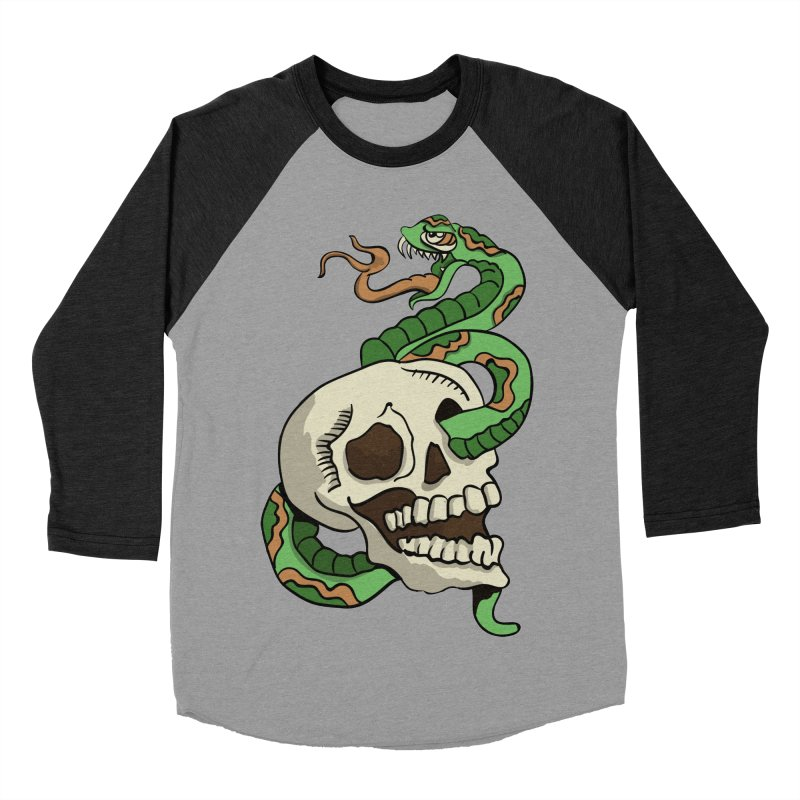 Snake 'n' Skull Men's Baseball Triblend T-Shirt by TenAnchors's Artist Shop
