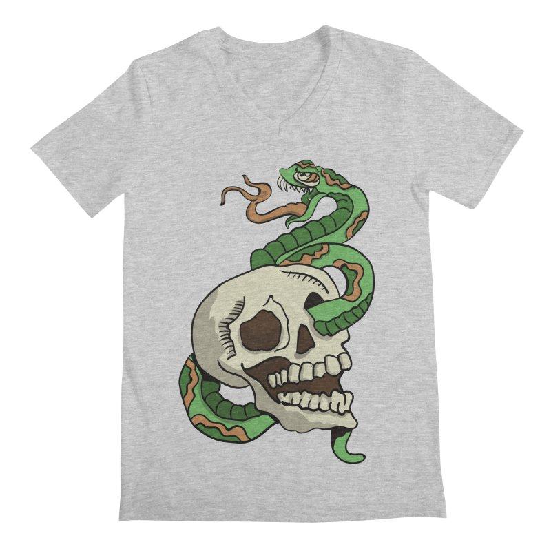 Snake 'n' Skull Men's V-Neck by TenAnchors's Artist Shop