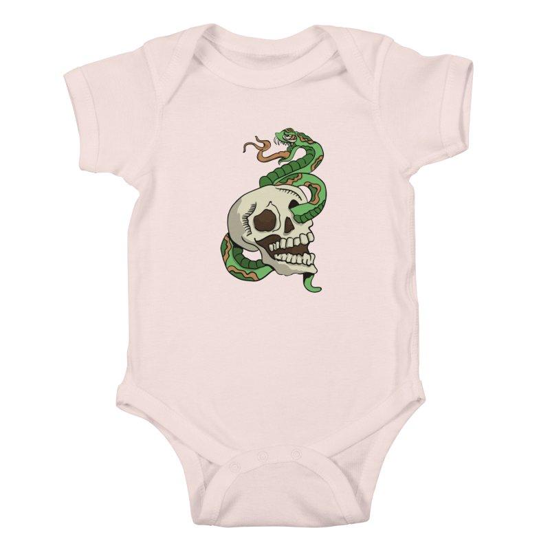 Snake 'n' Skull Kids Baby Bodysuit by TenAnchors's Artist Shop