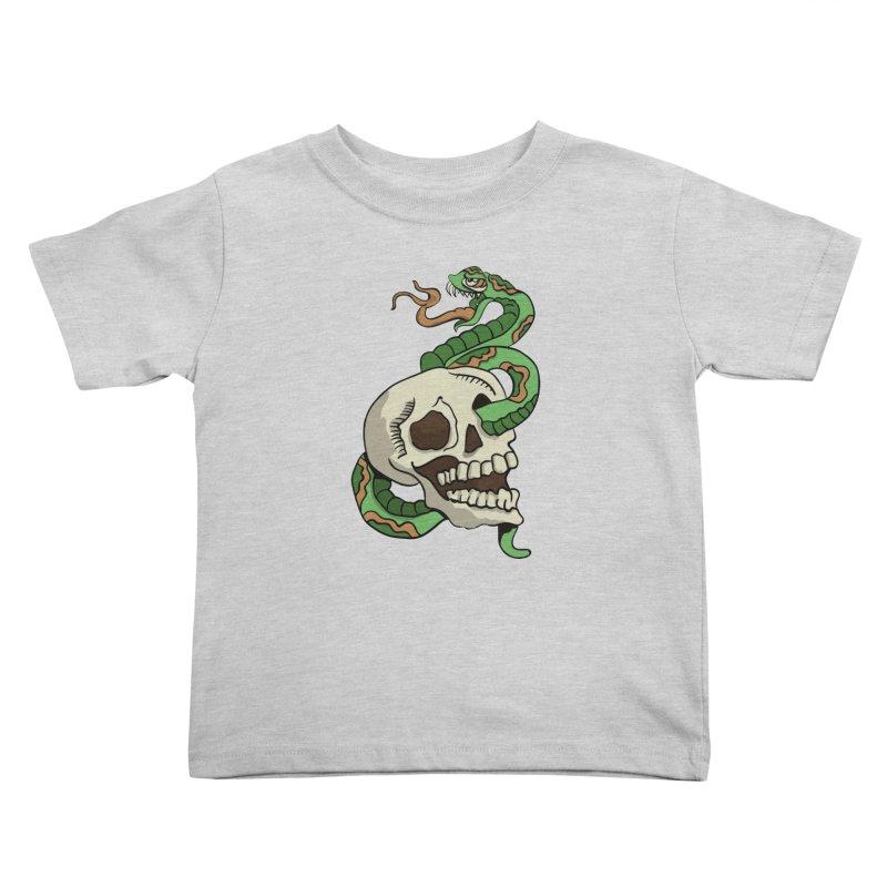 Snake 'n' Skull Kids Toddler T-Shirt by TenAnchors's Artist Shop